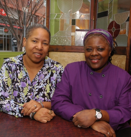 Stephanie Tyson and Vivian Joiner, co-owners of Sweet Potatoes restaurant in Winston-Salem
