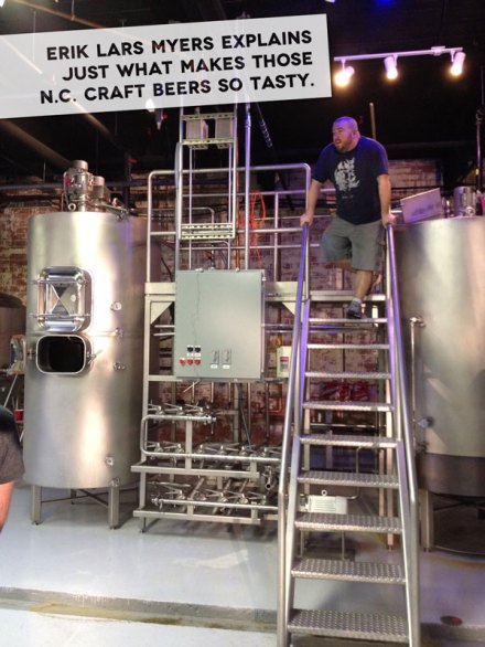 Erik Lars Myers, author of North Carolina Craft Beer and Breweries, at Mystery Brewing in Hillsborough
