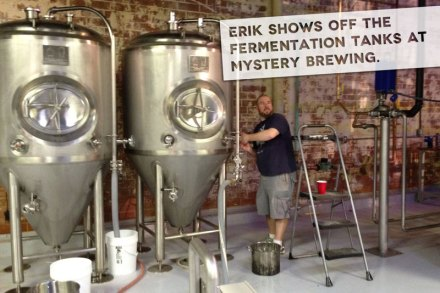 Erik Lars Myers, author of North Carolina Craft Beer and Breweries, at Mystery Brewing in Hillsborough, N.C.