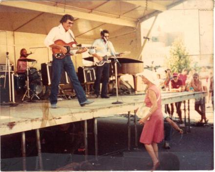 Carl Perkins transcendent musical moment on stage in Winston-Salem.